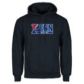 Navy Fleece Hoodie-Penn Volleyball