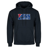 Navy Fleece Hoodie-Penn Sprint Football