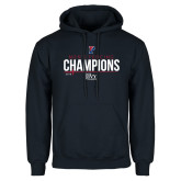 Navy Fleece Hoodie-2018 Mens Fencing Ivy League Champions