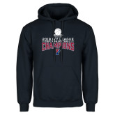 Navy Fleece Hoodie-2018 Mens Basketball Regular Season Champions