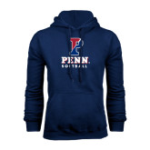 Navy Fleece Hood-Softball