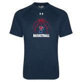 Under Armour Navy Tech Tee-Penn Basketball Under Ball