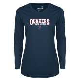Ladies Syntrel Performance Navy Longsleeve Shirt-Quakers Track and Field