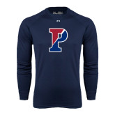 Under Armour Navy Long Sleeve Tech Tee-Split P