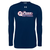 Under Armour Navy Long Sleeve Tech Tee-Penn Softball Script
