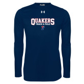 Under Armour Navy Long Sleeve Tech Tee-Quakers Track and Field
