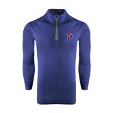 Under Armour Navy Tech 1/4 Zip Performance Shirt-Split P