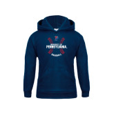 Youth Navy Fleece Hood-Pennsylvania Baseball Seams