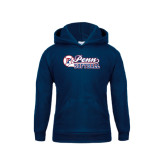 Youth Navy Fleece Hood-Penn Softball Script