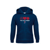 Youth Navy Fleece Hood-Peace Love & Volleyball