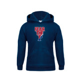 Youth Navy Fleece Hoodie-Fear The P