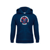 Youth Navy Fleece Hood-Soccer Circle