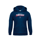 Youth Navy Fleece Hood-Pennsylvania Lacrosse Stacked
