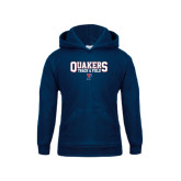 Youth Navy Fleece Hood-Quakers Track & Field