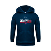 Youth Navy Fleece Hoodie-2017 Ivy League Mens Fencing Champions