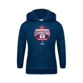 Youth Navy Fleece Hood-2017 Ivy League Womens Lacrosse Champions