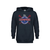 Youth Navy Fleece Hoodie-2018 Womens Lacrosse Championship