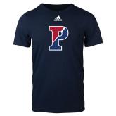 Adidas Navy Logo T Shirt-Split P