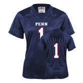 Ladies Navy Replica Football Jersey-Football #1