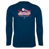 Syntrel Performance Navy Longsleeve Shirt-Penn Softball Crossed Bats