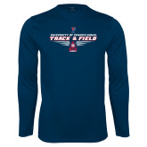 Performance Navy Longsleeve Shirt-Track and Field Front Shoe