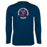 Performance Navy Longsleeve Shirt-Soccer Circle