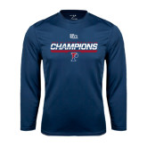 Syntrel Performance Navy Longsleeve Shirt-2016 Ivy League Mens Fencing Champions