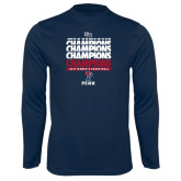 Syntrel Performance Navy Longsleeve Shirt-2017 Ivy League Womens Basketball Champions