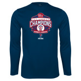 Syntrel Performance Navy Longsleeve Shirt-2017 Ivy League Womens Lacrosse Champions