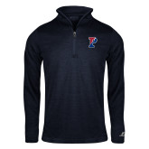Russell Navy Heather 1/4 Zip-Split P