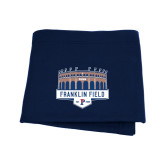 Navy Sweatshirt Blanket-Franklin Field