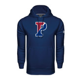 Under Armour Navy Performance Sweats Team Hood-Split P