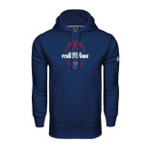Under Armour Navy Performance Sweats Team Hoodie-Penn Football Vertical