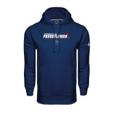 Under Armour Navy Performance Sweats Team Hoodie-Pennsylvania Football Stacked