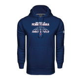 Under Armour Navy Performance Sweats Team Hood-Track & Field Lanes