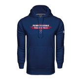 Under Armour Navy Performance Sweats Team Hood-Pennsylvania Track & Field Banner