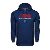 Under Armour Navy Performance Sweats Team Hood-Peace Love & Volleyball