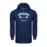 Under Armour Navy Performance Sweats Team Hood-Lacrosse w/ Crossed Sticks