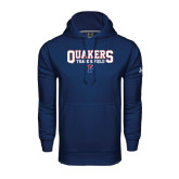 Under Armour Navy Performance Sweats Team Hood-Quakers Track & Field