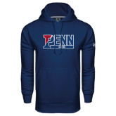Under Armour Navy Performance Sweats Team Hood-Penn Rowing
