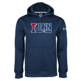 Under Armour Navy Performance Sweats Team Hood-Penn Sprint Band