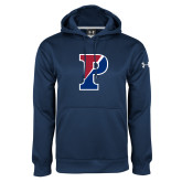 Under Armour Navy Performance Sweats Team Hoodie-Split P