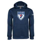 Under Armour Navy Performance Sweats Team Hoodie-PENN Shield