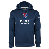 Under Armour Navy Performance Sweats Team Hoodie-Squash