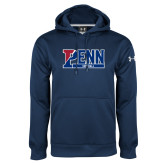 Under Armour Navy Performance Sweats Team Hoodie-Penn Softball