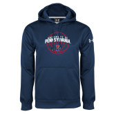 Under Armour Navy Performance Sweats Team Hoodie-Pennsylvania Basketball Arched