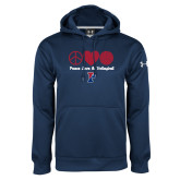 Under Armour Navy Performance Sweats Team Hoodie-Peace Love & Volleyball