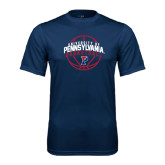 Syntrel Performance Navy Tee-Pennsylvania Basketball in Ball