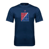 Syntrel Performance Navy Tee-Bleed Red & Blue