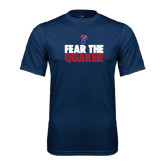Syntrel Performance Navy Tee-Fear The Quaker